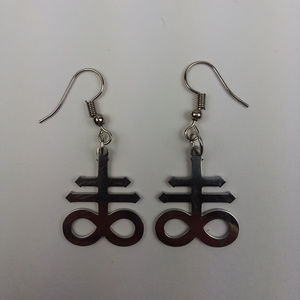 Leviathan Cross Stainless Steel 2pcs Earrings Set